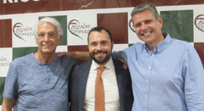 Celso Barros posou ao lado de Mario Bittencourt nas eleições do Fluminense