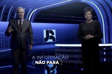 """Celso Freitas e Christina Lemos, titulares do """"Jornal da Record"""""""