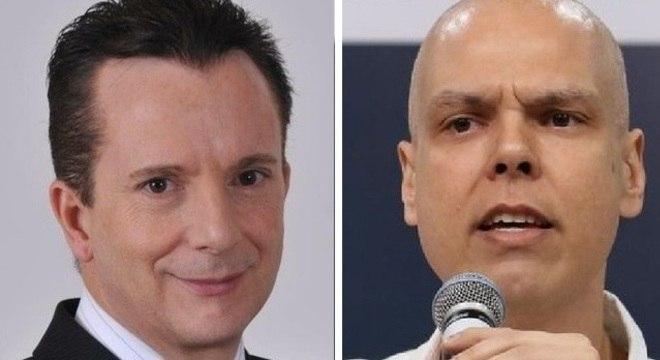 Celso Russomanno (Republicanos) e Bruno Covas (PSDB)