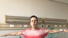 Com covid-19, Celso Zucatelli faz fisioterapia respiratória