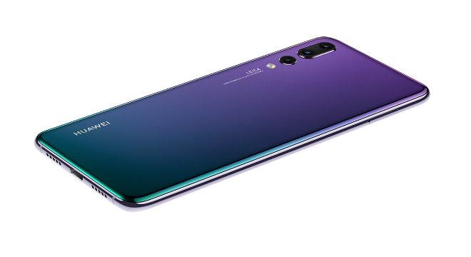 O Huawei pensou em um celular bem diferente com um visual em tons de roxo e verde
