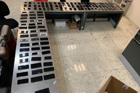 Celulares apreendidos no aeroporto de Guarulhos