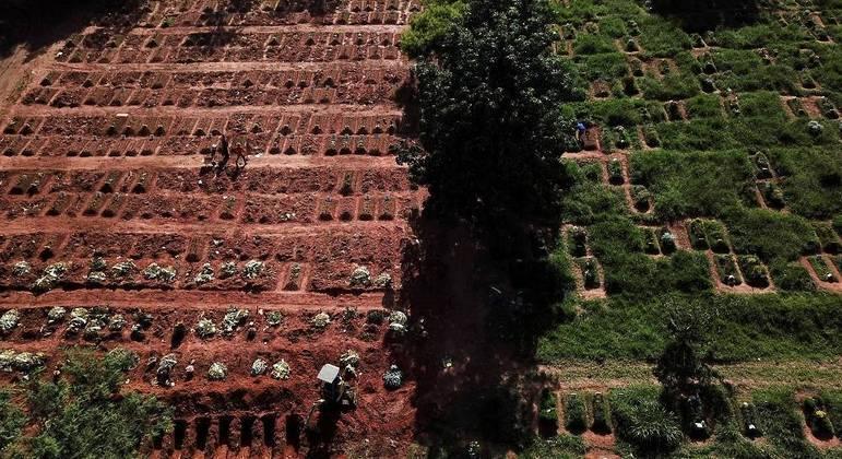 Mês de março teve 65,8 mil mortes por covid em todo o Brasil, segundo Ministério da Saúde