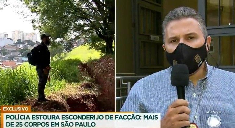 Cemitério clandestino deve abrigar mais de 50 corpos, estima o delegado Fábio Pinheiro