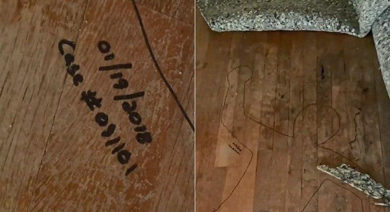 Moradora descobriu cena de crime sob carpete, em casa para a qual acabou de se mudar