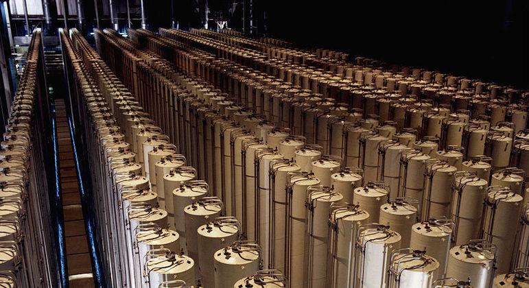 Centrífugas utilizadas para enquecimento de urânio em uma usina nuclear dos Estados Unidos