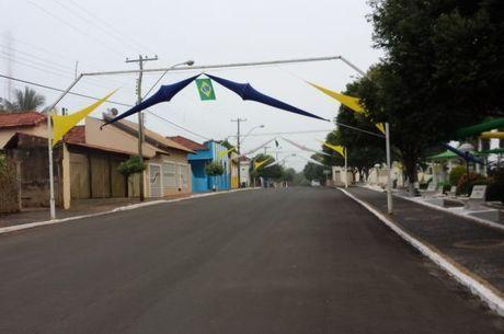 Centro de Uru, segunda menor cidade de SP