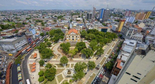 Centro histórico de Manaus, capital construída no coração da Floresta Amazônica