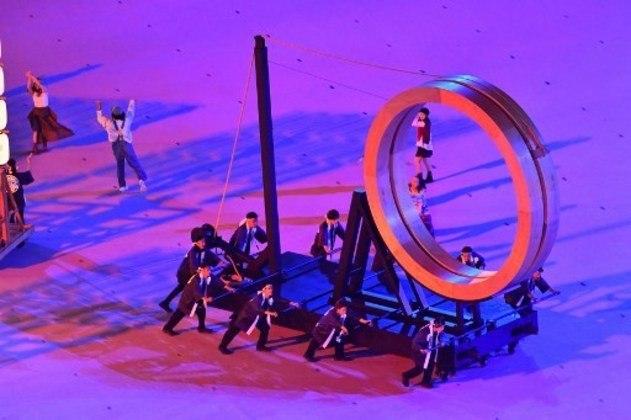 Cerimônia de Abertura contou com diversos grupos de dança.
