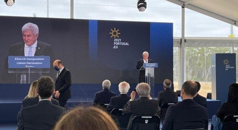 Ministro Marcos Pontes participou da cerimônia que marcou o início das operações