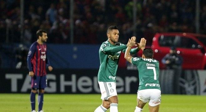Borja foi o grande nome do Palmeiras na vitória sobre o Cerro Porteño