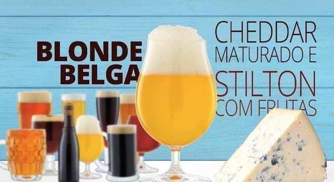 cerveja de blonde belga cerveja com queijo
