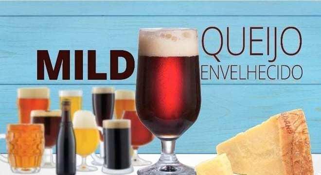 cerveja de mild cerveja com queijo