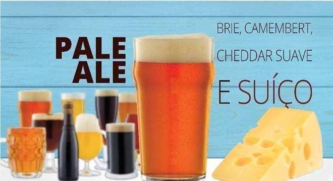 cerveja de pale ale cerveja com queijo