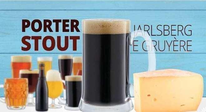 cerveja de poter stout cerveja com queijo