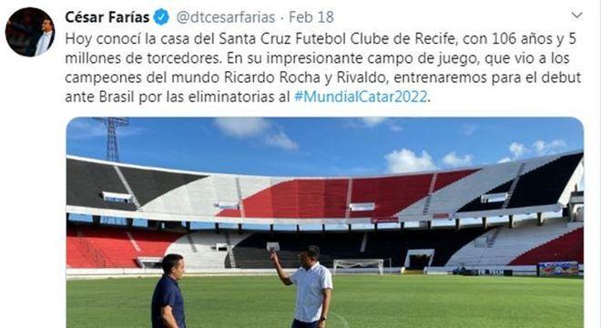 César Farias conheceu o Arruda, estádio que guarda memórias para os bolivianos