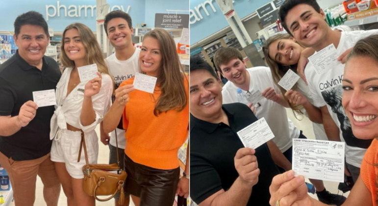 A família também recebeu a segunda dose da vacina contra a covid-19 durante as férias. Cesar revelou que tomou a primeira dose no Brasil, mas que conseguiu tomar a segunda por lá sem nenhum problema. Ele falou sobre o processo de vacinação nos EUA: