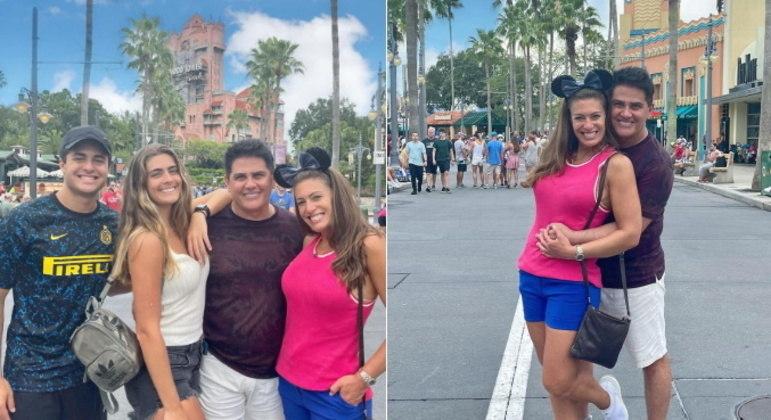 Em Orlando, a família aproveitou também para se divertir nos parques da Disney, começando pelo Hollywood Studios.