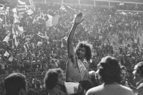 César comemora título pelo Palmeiras