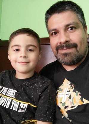 Com apenas 7 anos, Miguel já é um admirador do universo