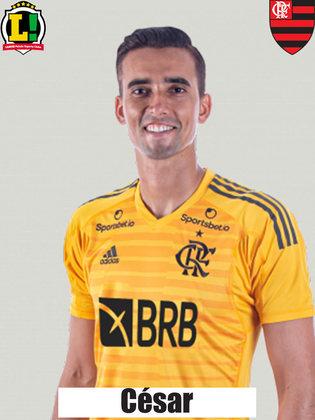 CÉSAR - s/n - Entrou na reta final devido à expulsão de Diego Alves, mas não foi exigido pelo ataque do Atlético-GO.