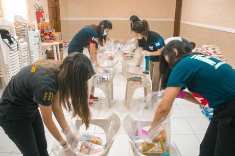 Na montagem das cestas básicas, procedimentos de higiene e prevenção foram tomados