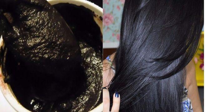 chá preto e cabelos pretos