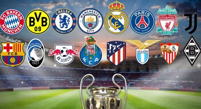 Os 16 clubes que disputam as oitavas de final da LC 2020/2021