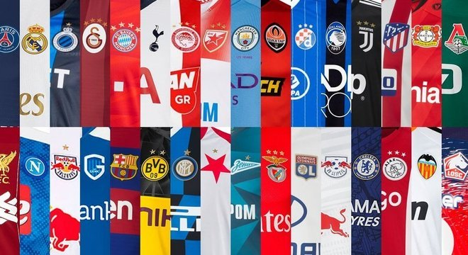 Os 32 clubes da CL 2019/20