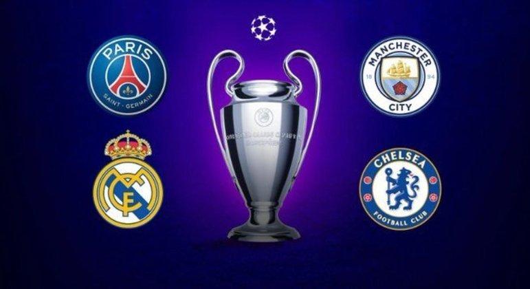 """Os quatro semifinalistas da """"Champions"""""""