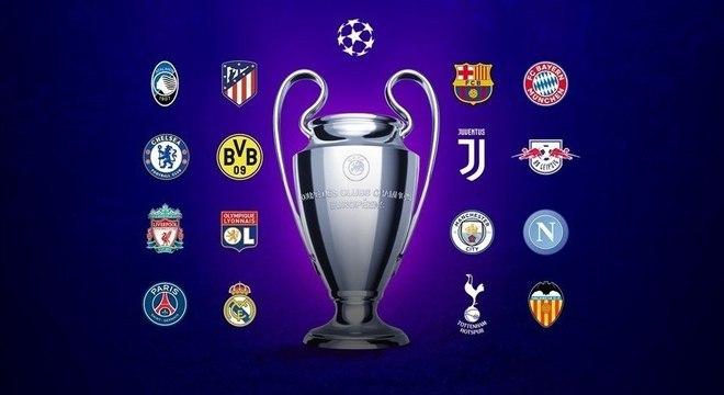 Os 16 clubes das oitavas-de-final desta Champions