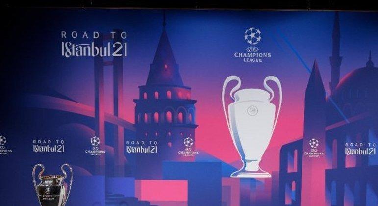"""Um poster da edição atual da """"Champions"""""""