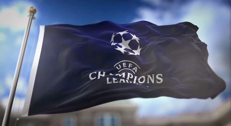 A bandeira da Champions