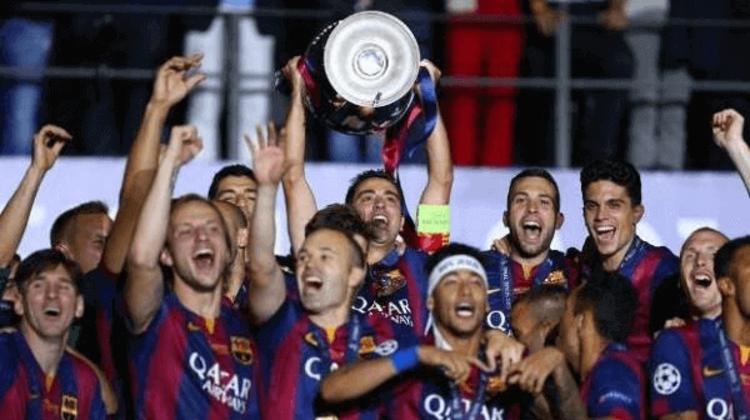 CHAMPIONS LEAGUE 2014-15 - Bela vitória por 3 a 1 sobre a Juventus, com direito a destaque para Neymar. O golpe final foi dele, tornand0-se no último minuto artilheiro da competição ao lado de Messi e Cristiano Ronaldo.