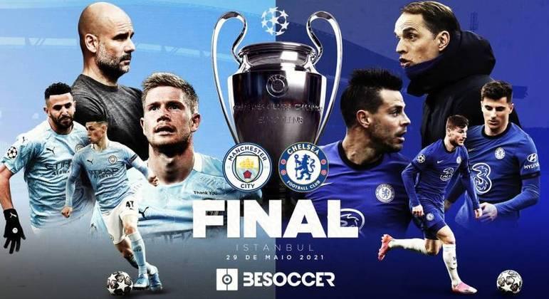 Um pôster da decisão, no Twitter da UEFA