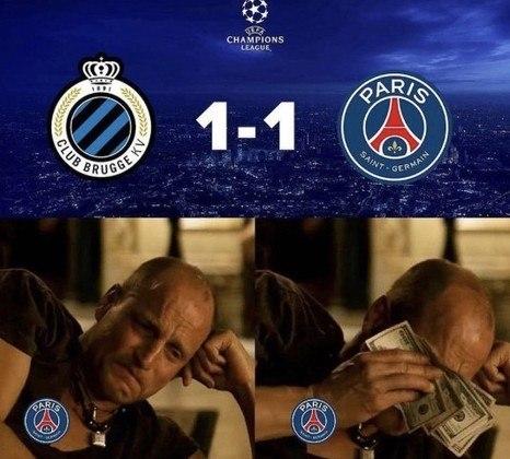 Champions League: os melhores memes de Brugge 1 x 1 Paris Saint-Germain