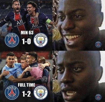 Champions League: Paris Saint-Germain perde de virada para o City, se complica nas semifinais e vira piada nas redes sociais