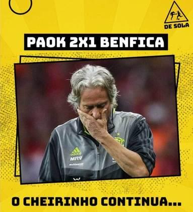 Champions League: Pedrinho e Jorge Jesus são alvo da zoeiras após eliminação do Benfica