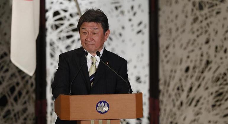 chanceler do japao Toshimitsu Motegi