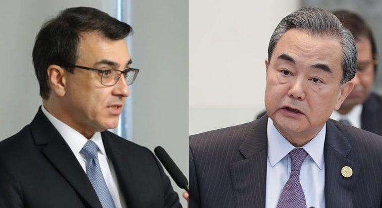 Carlos Araújo falou pela 1ª vez, oficialmente, com ministro das Relações Estrangeiras da China, Wang Yi
