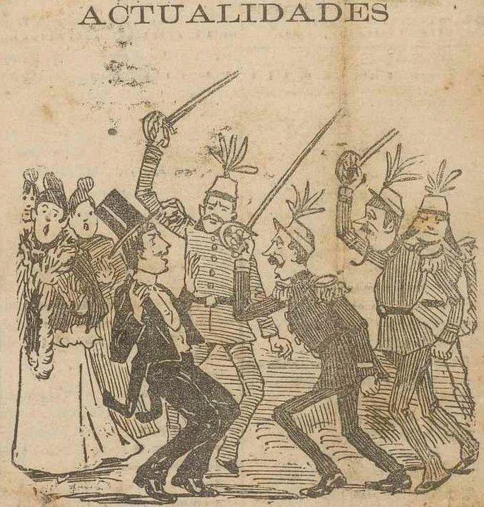 Charge na Gazeta da Tarde publicada dois dias depois do baile da Ilha Fiscal