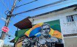 O lutador agradeceu pelo desenho em suas redes sociais: 'Obrigado pelo carinho. Desenho feito na Rua Iporanga, aonde fui criado.'