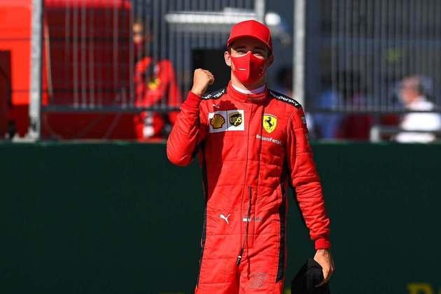 Charles Leclerc, com a Ferrari, foi ao pódio duas vezes.