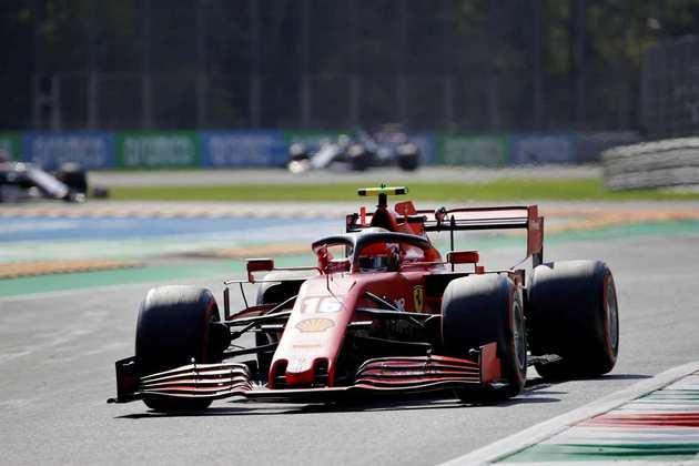 Charles Leclerc em ação no GP da Itália