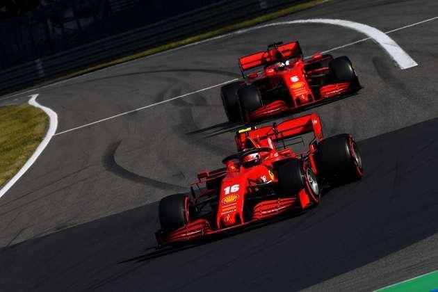 Charles Leclerc trouxe a Ferrari ao sétimo lugar