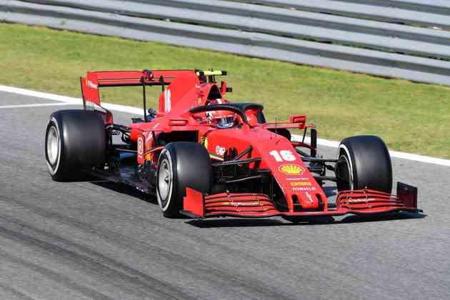 Charles Leclerc, vencedor em Monza em 2019, abandonou em 2020