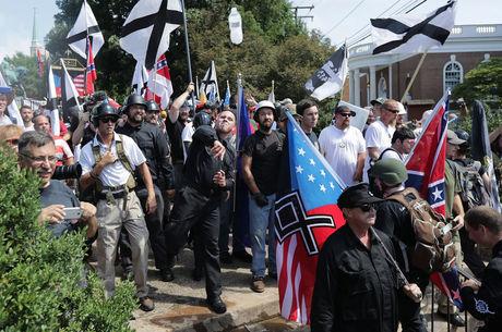 Os manifestantes estavam fortemente armados