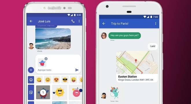 Esse é o visual das mensagens do Chat nos celulares Android
