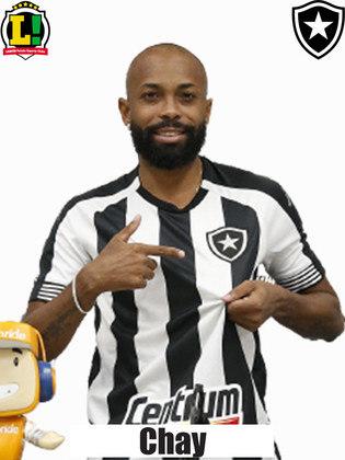 Chay: 6,0 – Não fez a melhor partida com a camisa do Botafogo, mas correu bastante e, caso Pedro Castro tivesse feito o gol, poderia ter conseguido uma assistência.