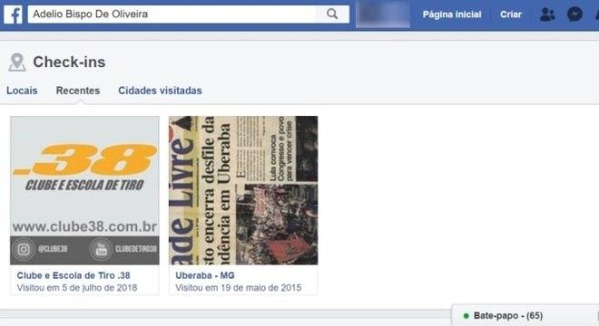 Check-in, Adelio Bispo de Oliveira,